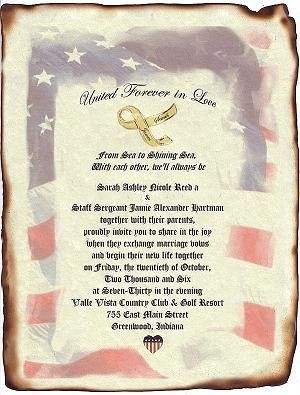 Military Wedding Scroll Invitations Patriotic Theme By Handykane 49 99
