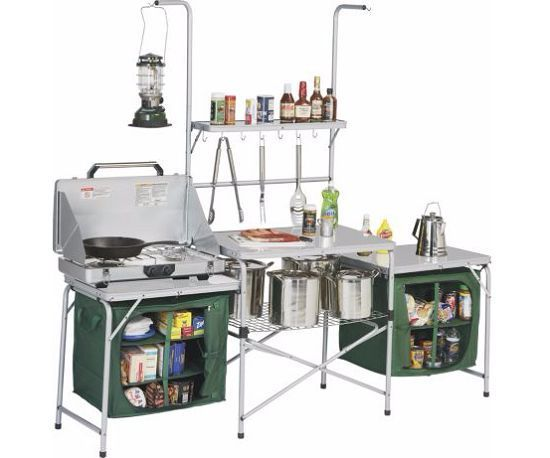 Portable Kitchen Camping Stove Outdoor Mobile Folding Table ...
