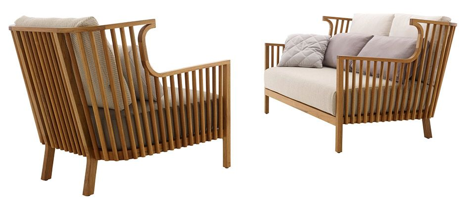 Elizabeth Teck InOutdoor Armchair By Ligne Roset Modern Furniture Mesmerizing Modern Outdoor Furniture Los Angeles