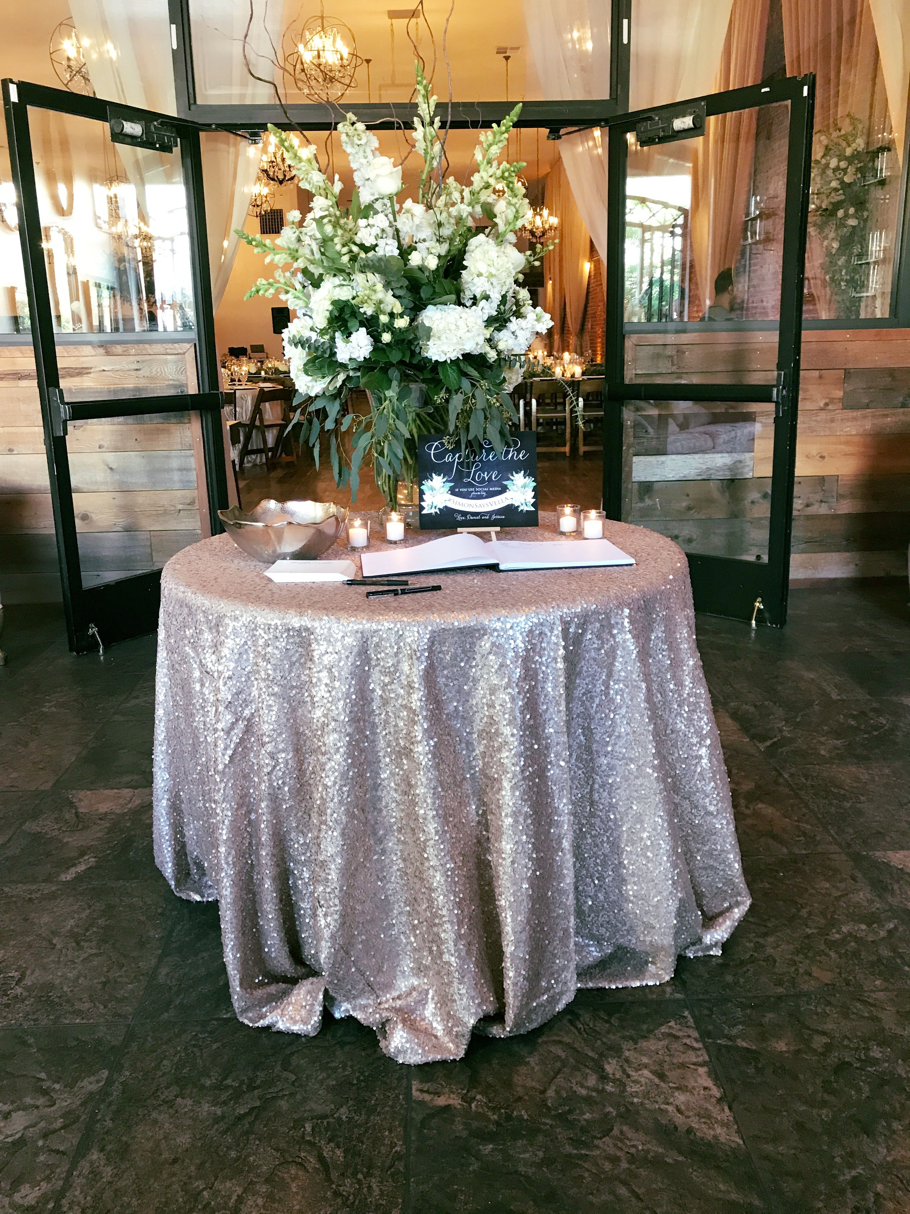 Sign In Table For Wedding Wedding Guest Book Wedding Held At The Century Wedding Guest Book Table Wedding Guest Table Wedding Guest Book Table Decorations