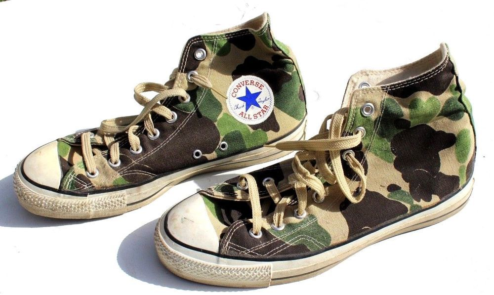 0de32f5981538b VINTAGE 1970 s CONVERSE ALL STAR CHUCK TAYLOR MENS sz 10 HI-TOP CAMO SHOES   fashion  clothing  shoes  accessories  mensshoes  athleticshoes  ad (ebay  link)