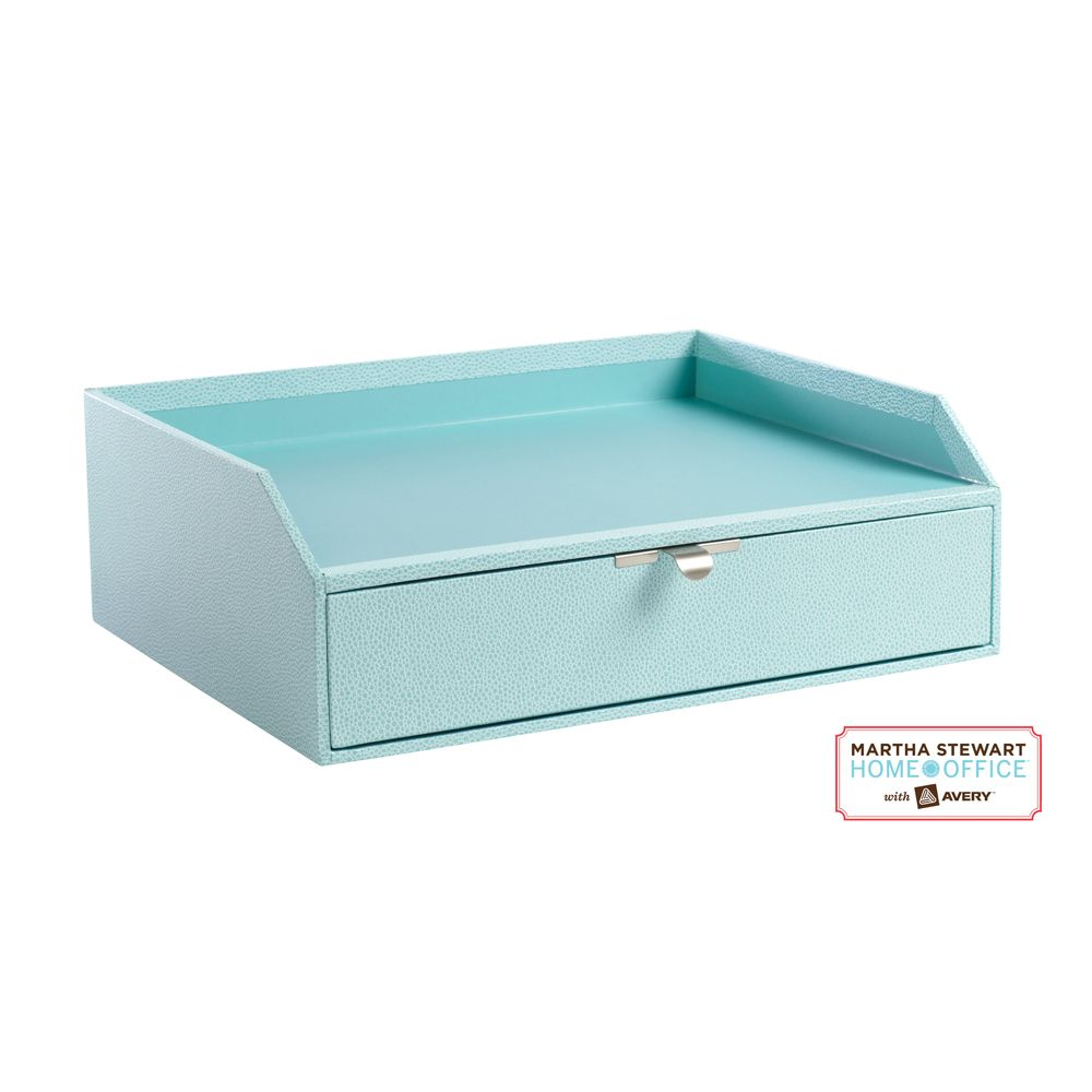 Martha Stewart Home Office Stack+Fit™ Shagreen Drawer With