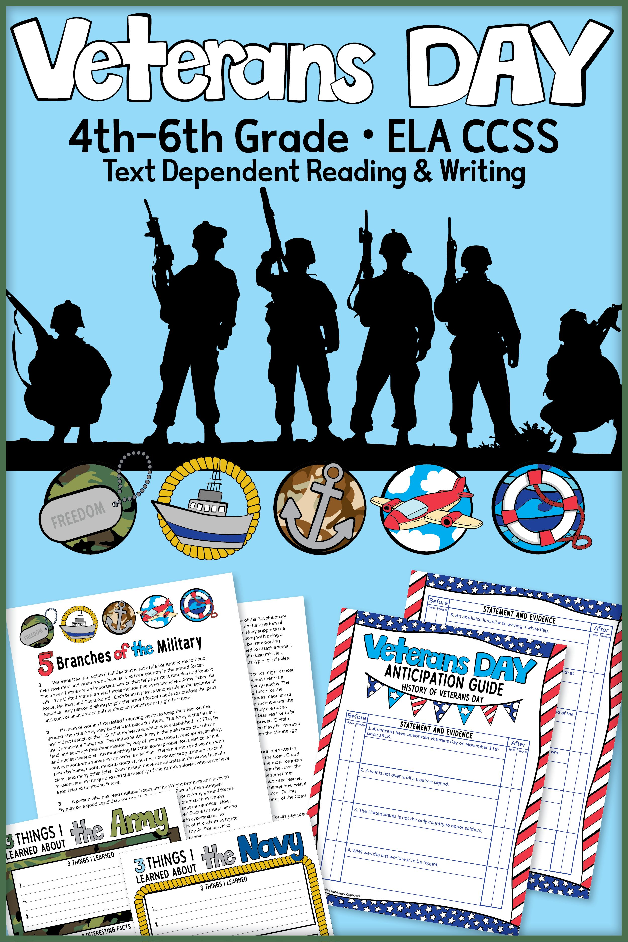 Veterans Day Writing Veterans Day Activities Close