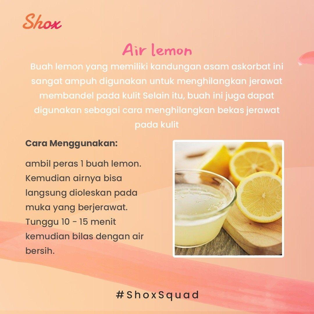 Cara Memakai Jeruk Lemon Untuk Wajah Berjerawat