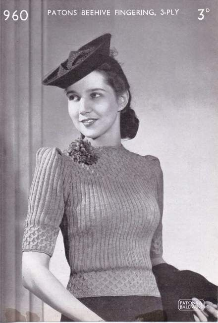 Free Vintage Knitting Pattern 40s Forties 1940s Knittingpattern