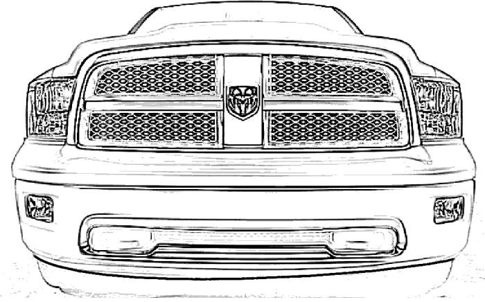 Dodge Ram Coloring Page | Cars coloring pages, Dodge, Car
