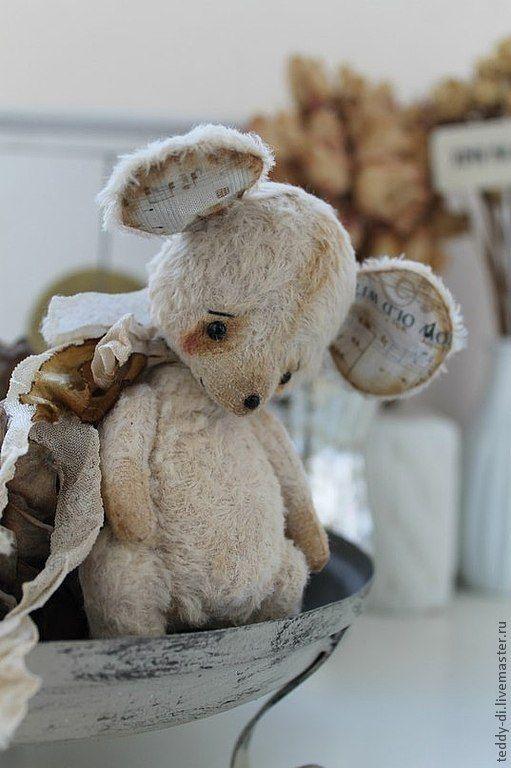 Купить Мышонок - лучший друг Ёжика! - бежевый, мышонок, мышь, мышка, тедди, вискоза, опилки