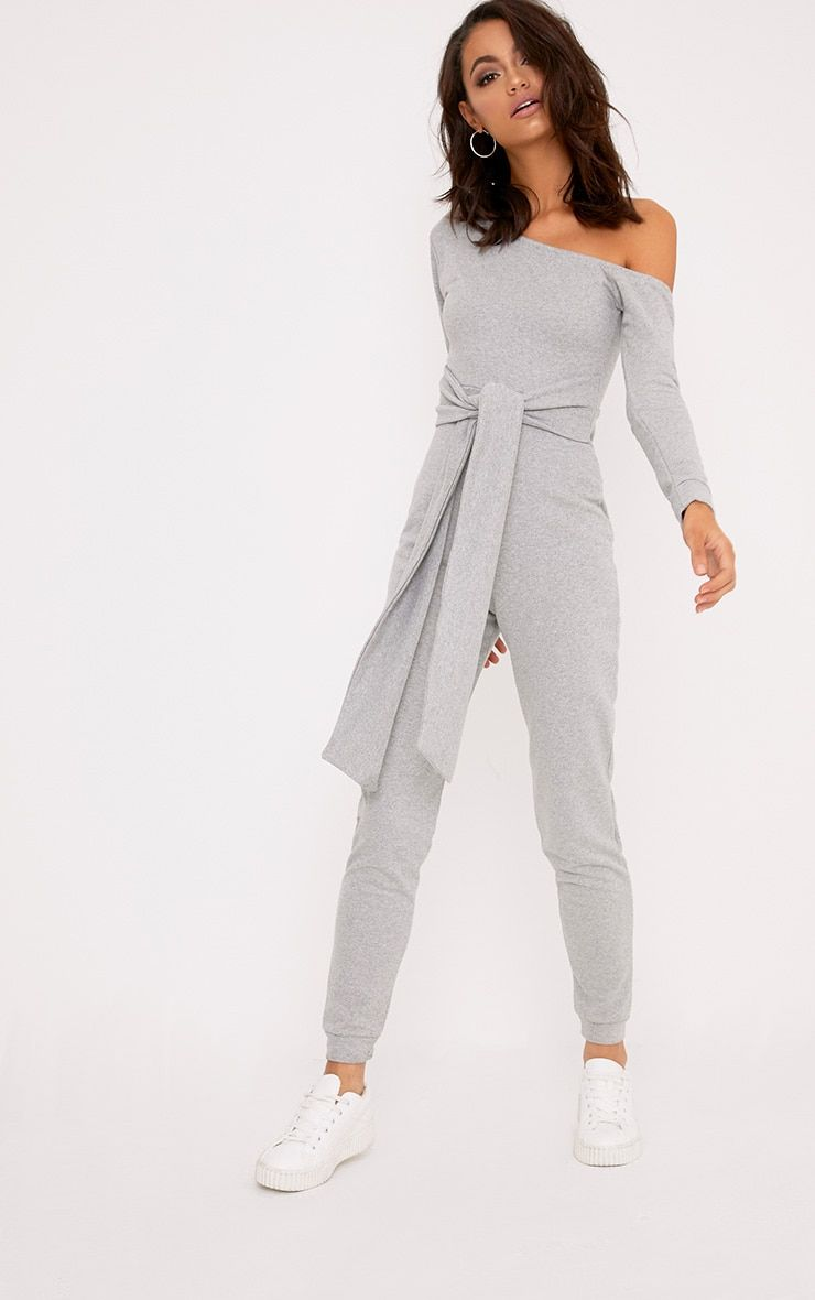 0737a634622 Lacie Grey Sweat Jumpsuit