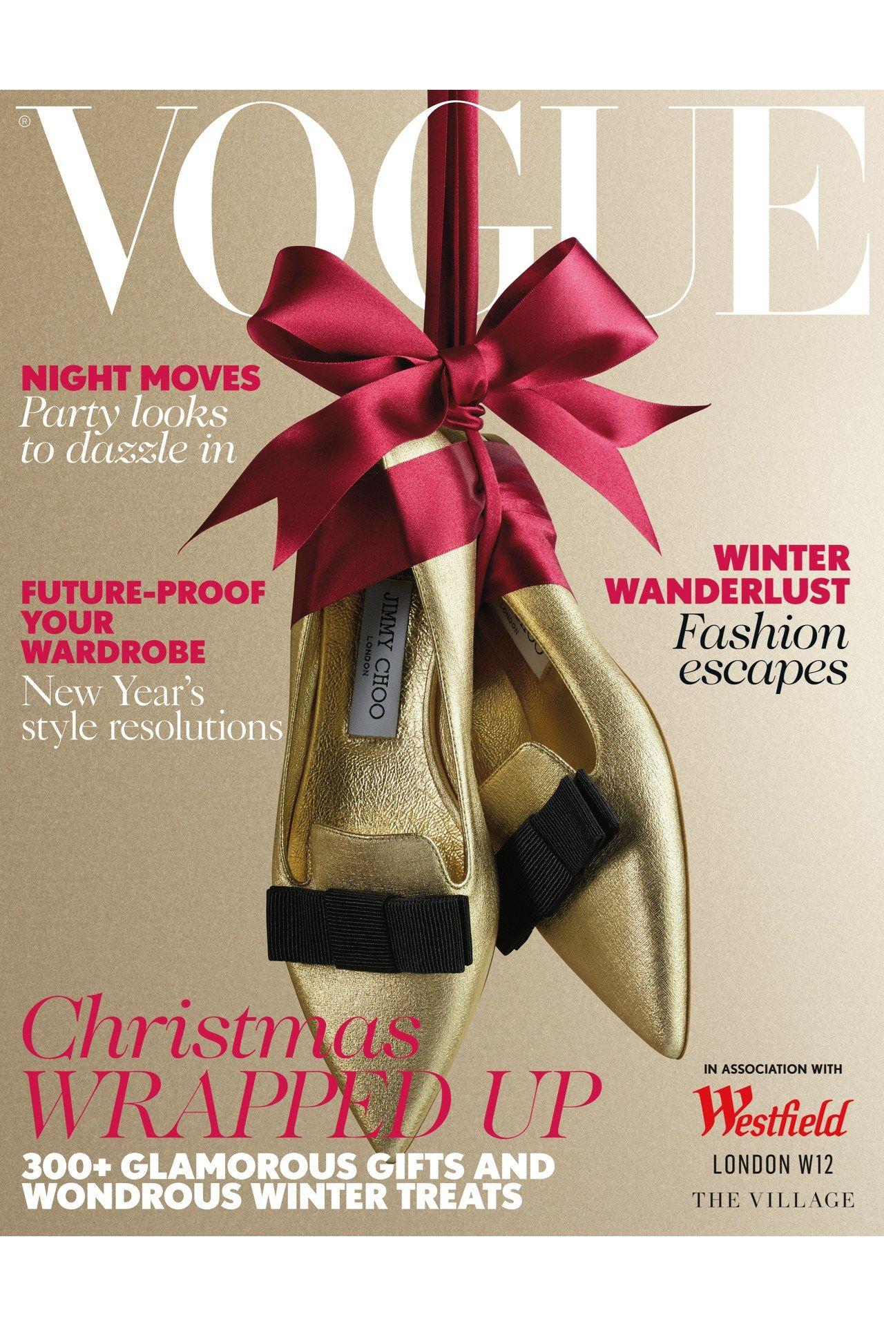 Inside December 2014 Vogue Christmas Fashion Christmas Editorial Christmas Shoes