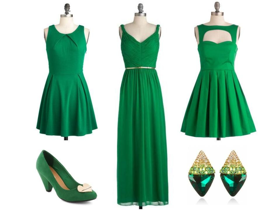 Emerald Green Dresses and Accessories for 2013!
