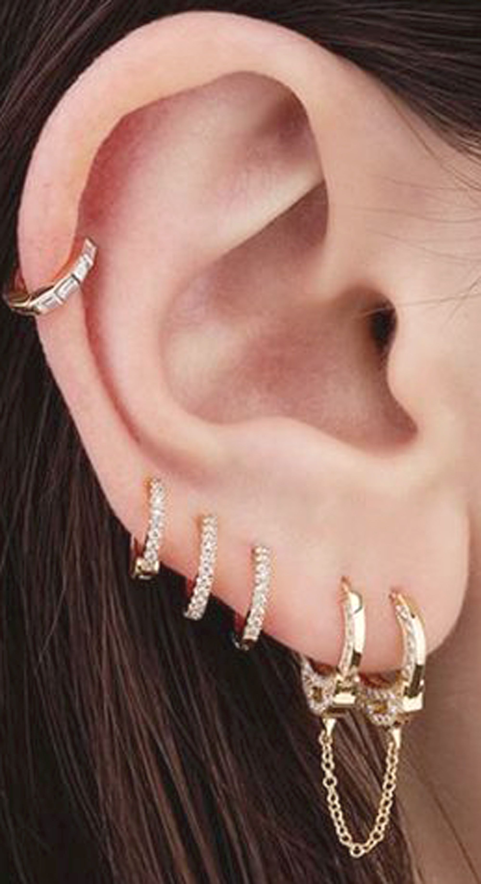 18g nose piercing  Arianna Crystal Nose  Ear Piercing Earring G Ring in Silver