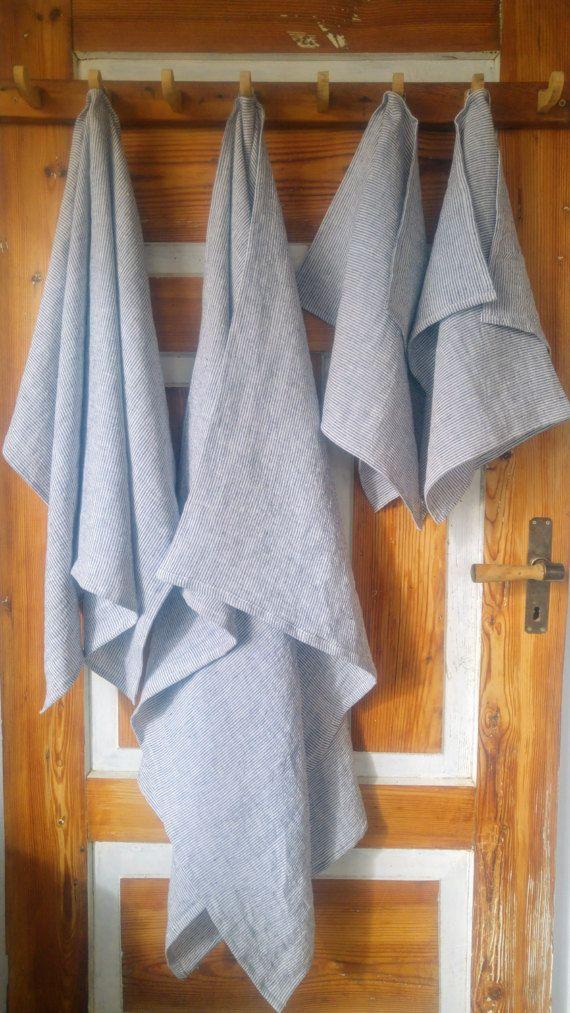 100 Linen Towel Sauna Towel Beach Towel Kitchen Ot Linencabin Linen Towels Beach Towel Striped Towels
