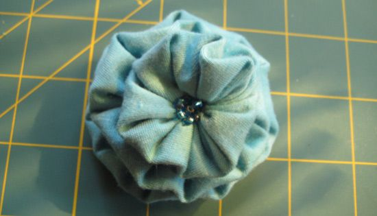 Bunched Fabric Flower