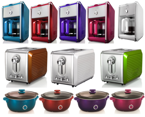 Small Kitchen Appliances with Big Color Kitchen Appliances
