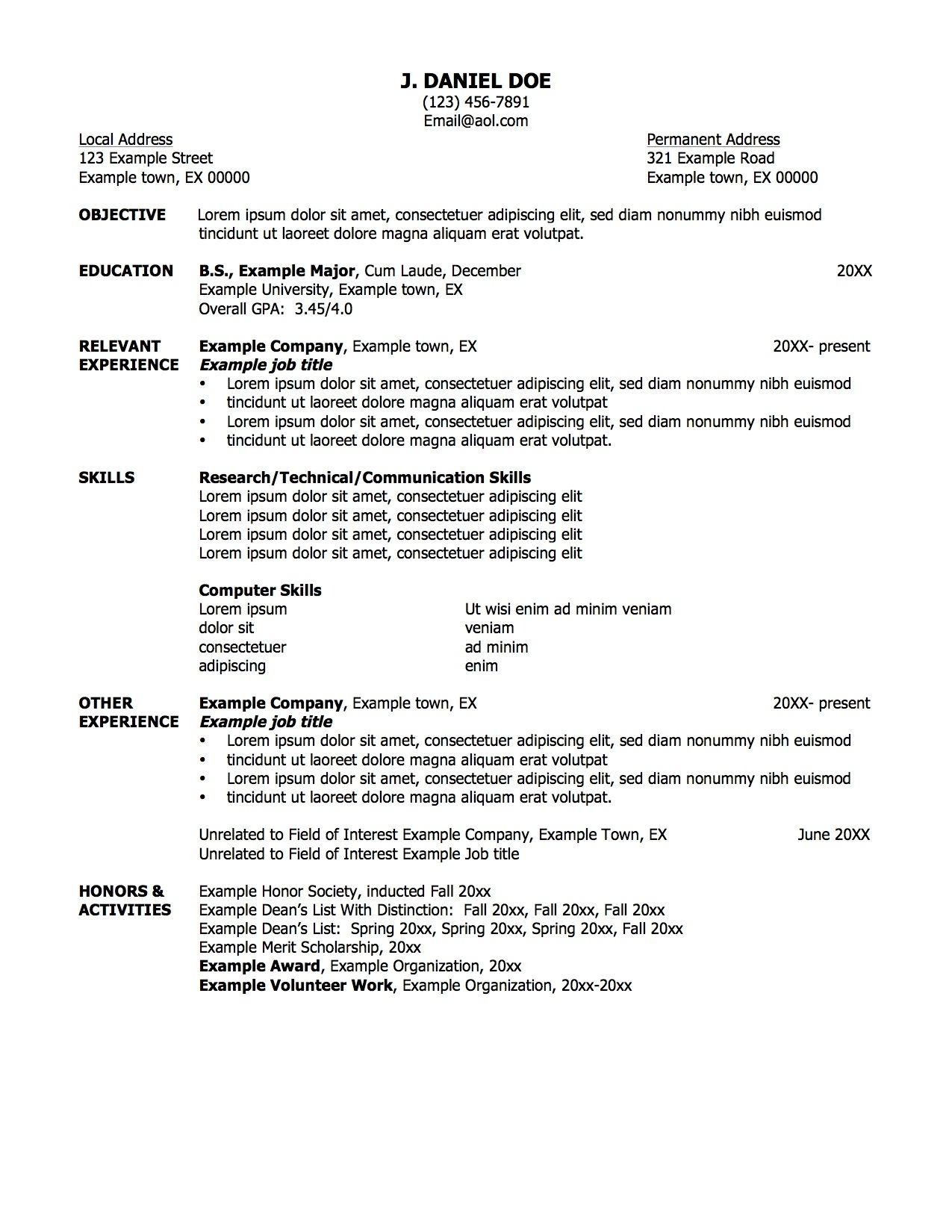 Job Resume Formats Homely Design Secretary Examples Corporate