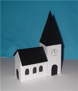 3d Paper Church Template Christmas Christmas Crafts 3d Paper Paper