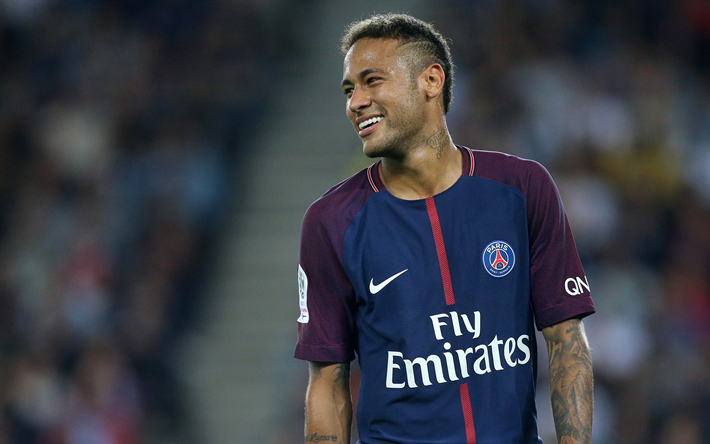 Download wallpapers Neymar Jr, 4k, PSG, soccer, football