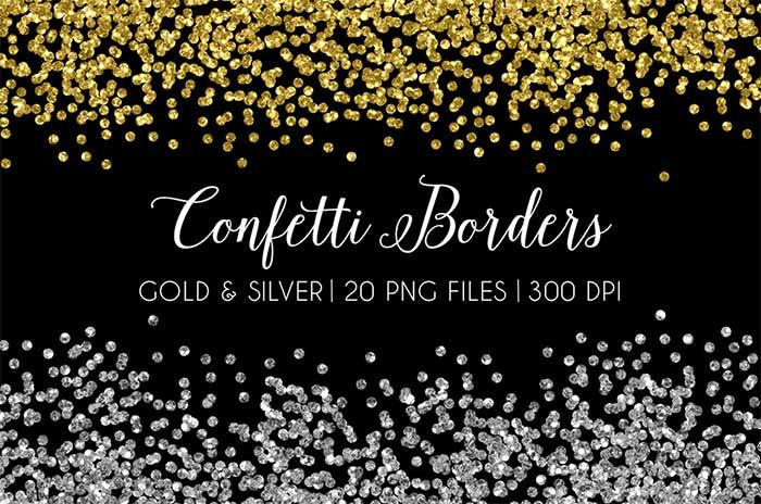 Spruce Up Your Blog Design With The Hand Crafted Watercolor Look Design Your Own Lovely Blog Glitter Confetti Clip Art Borders Clip Art