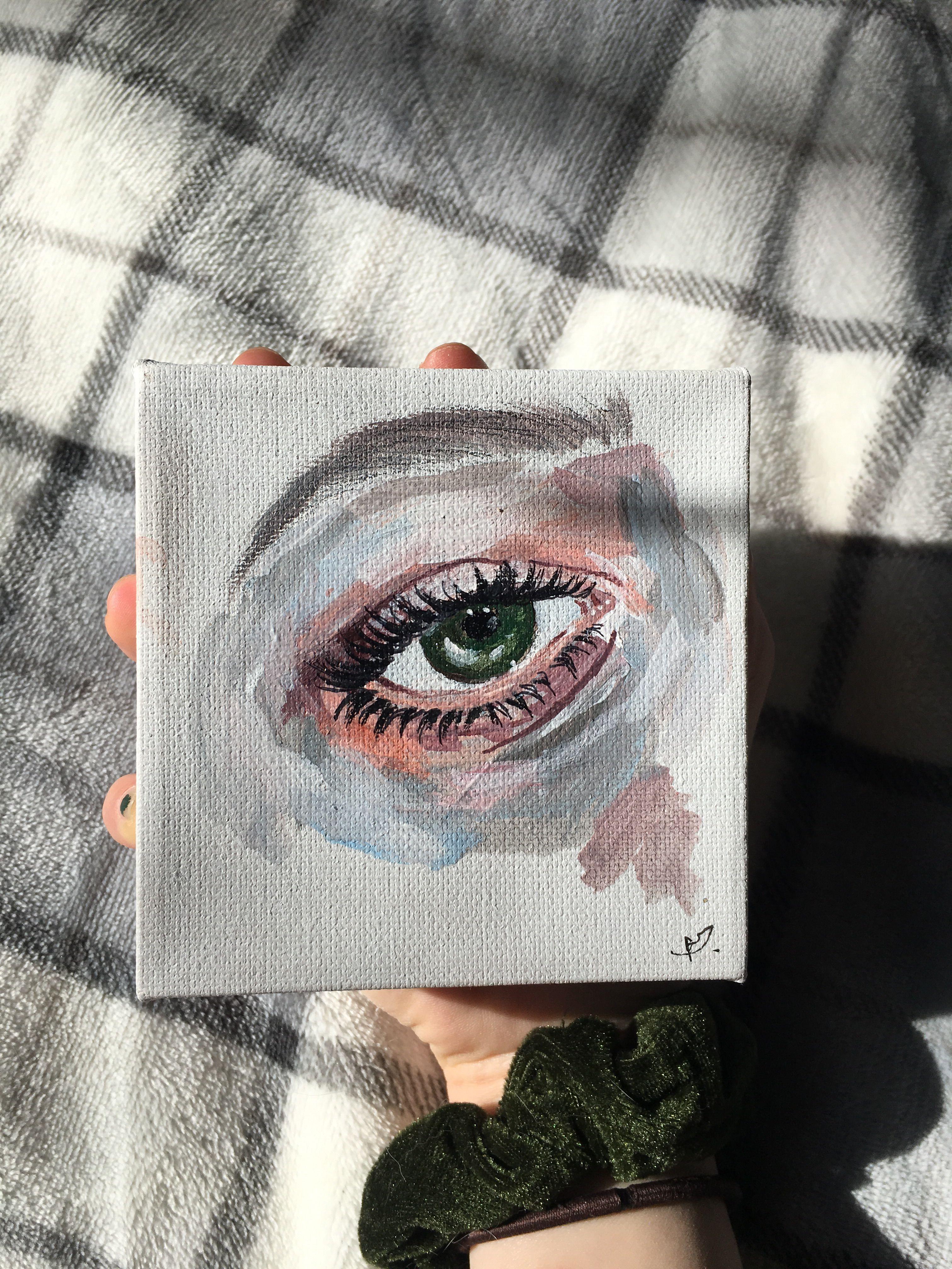 Mini Glazed Eye Paintings