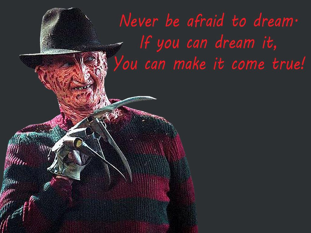 Nightmare On Elm St Quotes: Freddy Krueger Horror Inspirational Quote Refrigerator