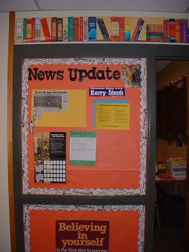 News corner bulletin board even in english class