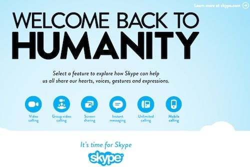 In New Ad Campaign, Skype Slams Twitter, Facebook