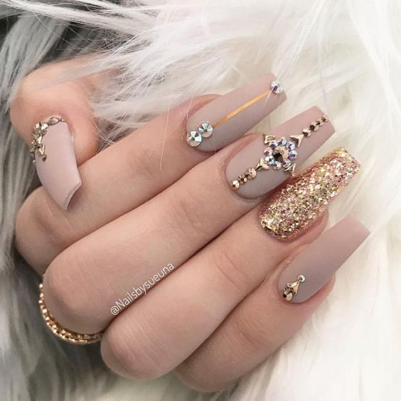 54 Unique And Beautiful 3d Nail Designs To Try Now Matte Acrylic Nails Classy Nail Art Ideas Luxury Nails