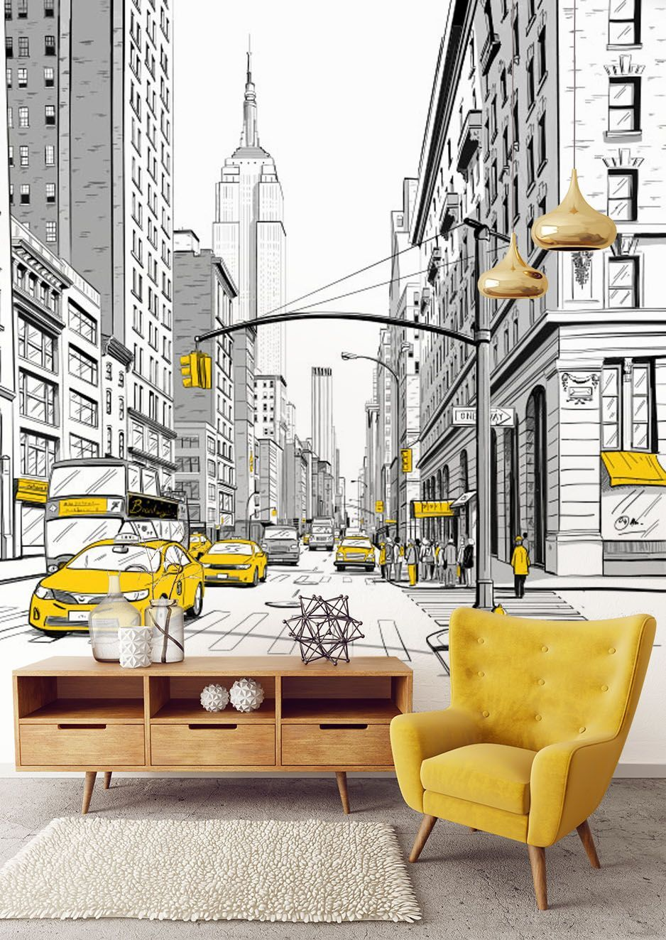 Paisaje Urbano Paisajeurbano The City Of New York Is One Of The Most Reproduced Images In The World Of Murals We Pres Nyc Murals Mural Wallpaper Modern Mural