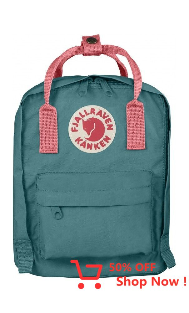 Fjallraven Kanken Kids Backpack Frost Green Peach Pink Fjallraven With Images Projects To Try Stuff To Buy Projects