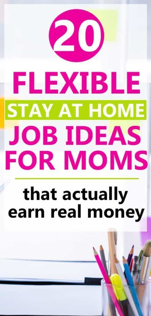 25 Legitimate Stay At Home Mom Jobs (that make real money) #stayathome