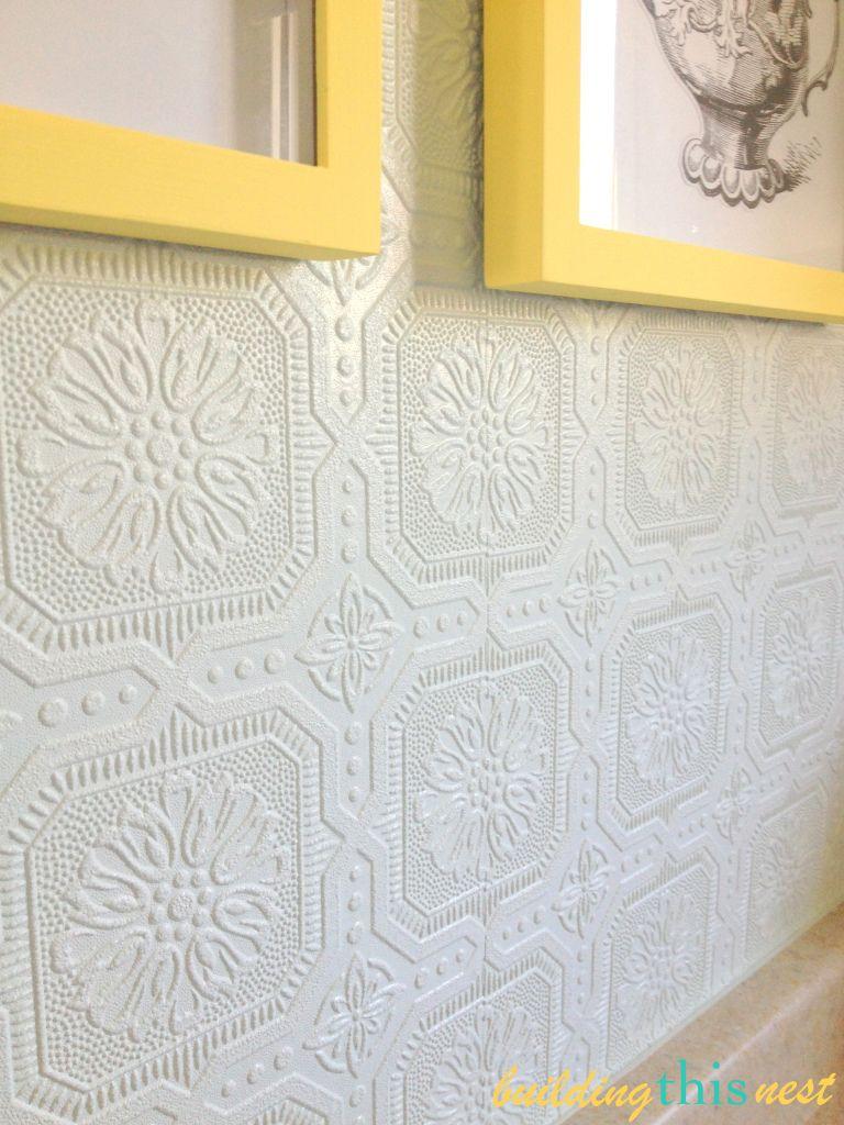 Kitchen Backsplash Update Paintable Wallpaper Paintable Textured Wallpaper Kitchen Wallpaper