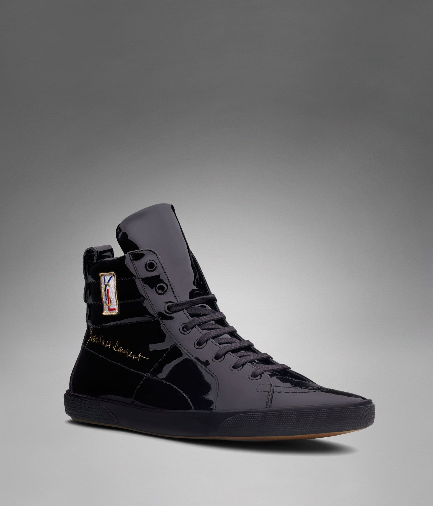 cd0d29d93242 YSL Classic High-top Sneaker in Black Patent Leather - Sneakers – Shoes –  Men – Yves Saint Laurent – www.ysl.com