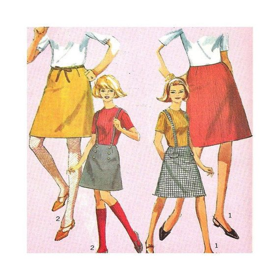 1960s Vintage Sewing Pattern Simplicity 6594 Teen by SewVintageCo ...