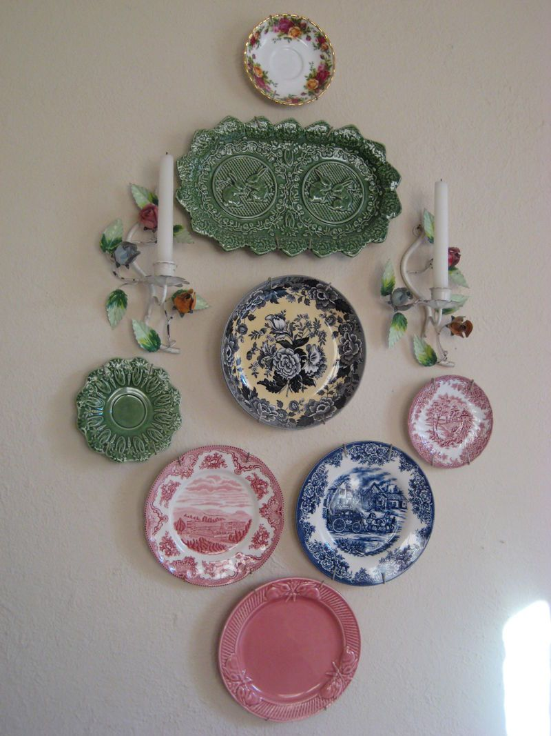 Plates Wall Decor Decorating Ideas Stunning Wall Decoration With Vintage