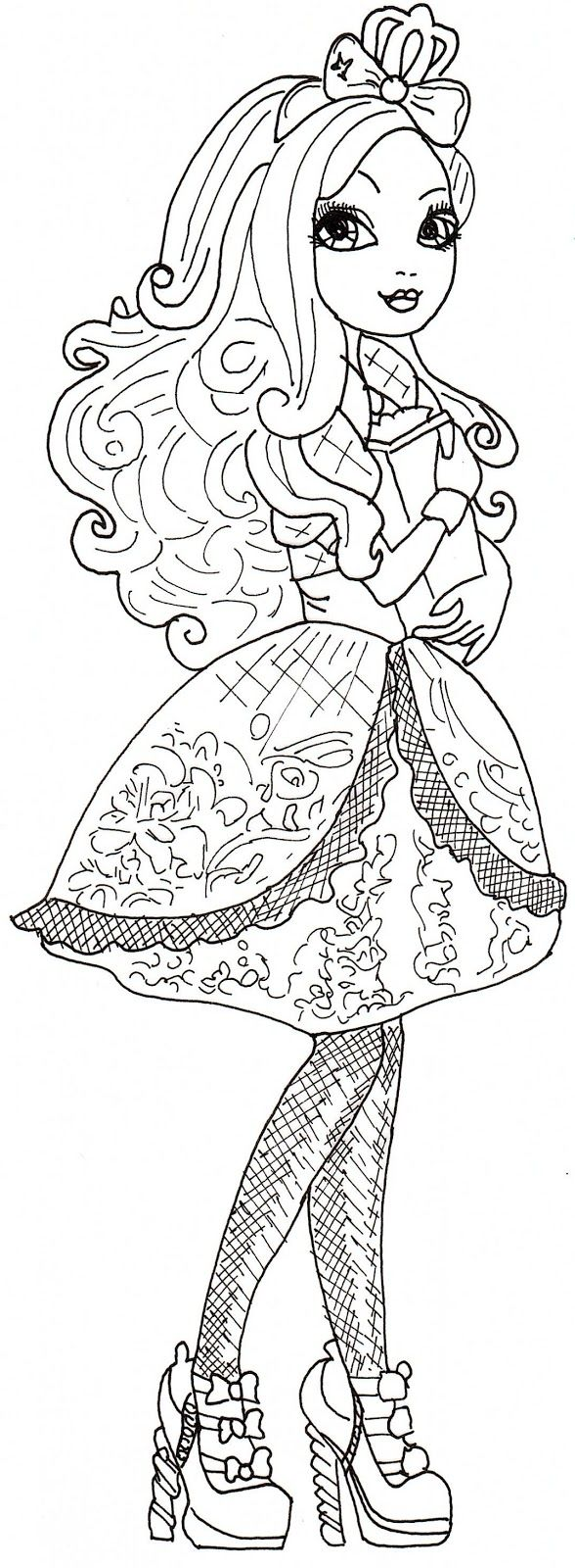 Free coloring pages ever after high - Find This Pin And More On Ever After High Apple White Free Printable Ever After High Coloring Pages