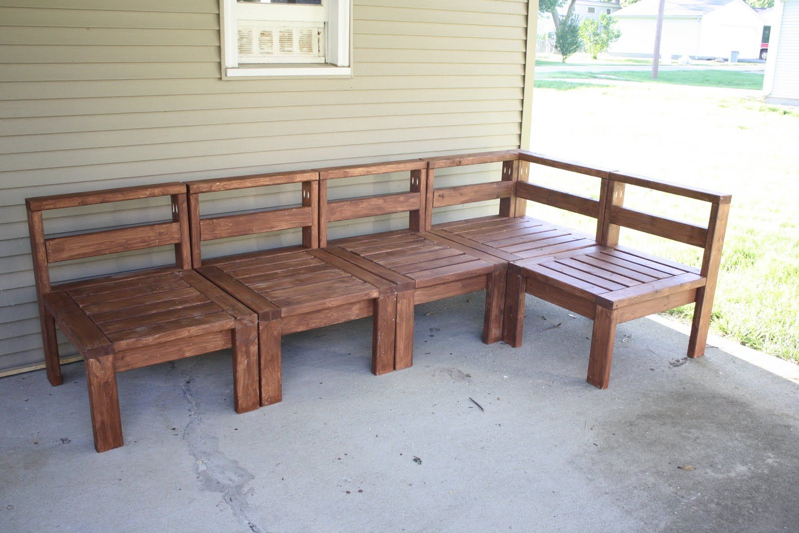 2x4 outdoor sectional with images pallet furniture