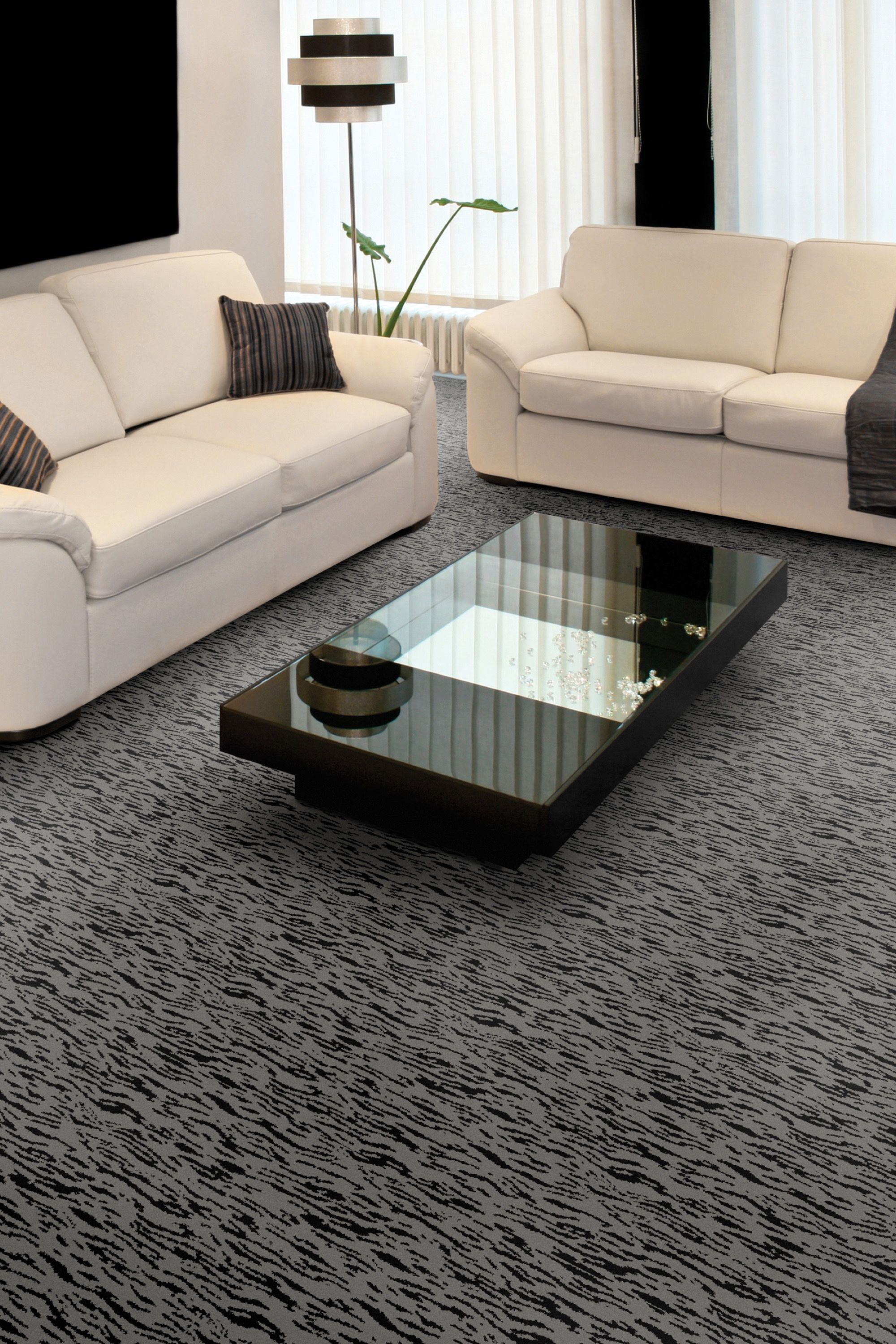 Living Room With Dark Comfortable Carpeting By Kane Covering The  # Muebles Sirena Animal Crossing