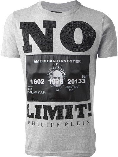 PHILIPP PLEIN Mens Short Sleeve T-shirt Casual Sports Costume Spray Paint  Tee
