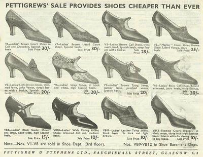TheGlasgowStory: Pettigrew & Stephens Sale, 1933