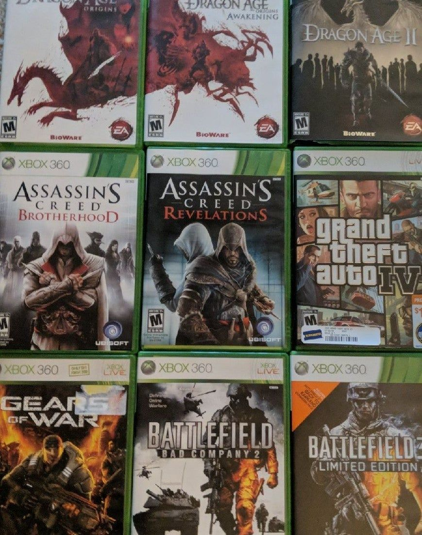 All Original Xbox 360 Games In Used But Working Condition Lots Of