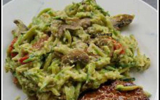 Courgettepasta met kastanjechampignons en avocadosaus-Slank4U2