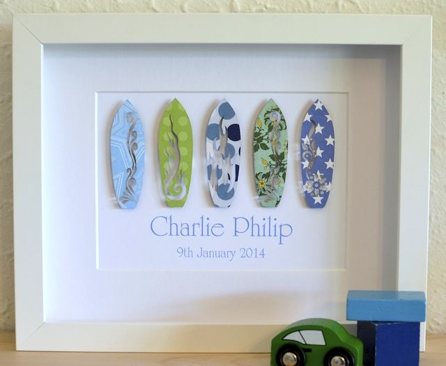 Surfboard Art - Personalized Paper Art Frames | Diy | Pinterest ...