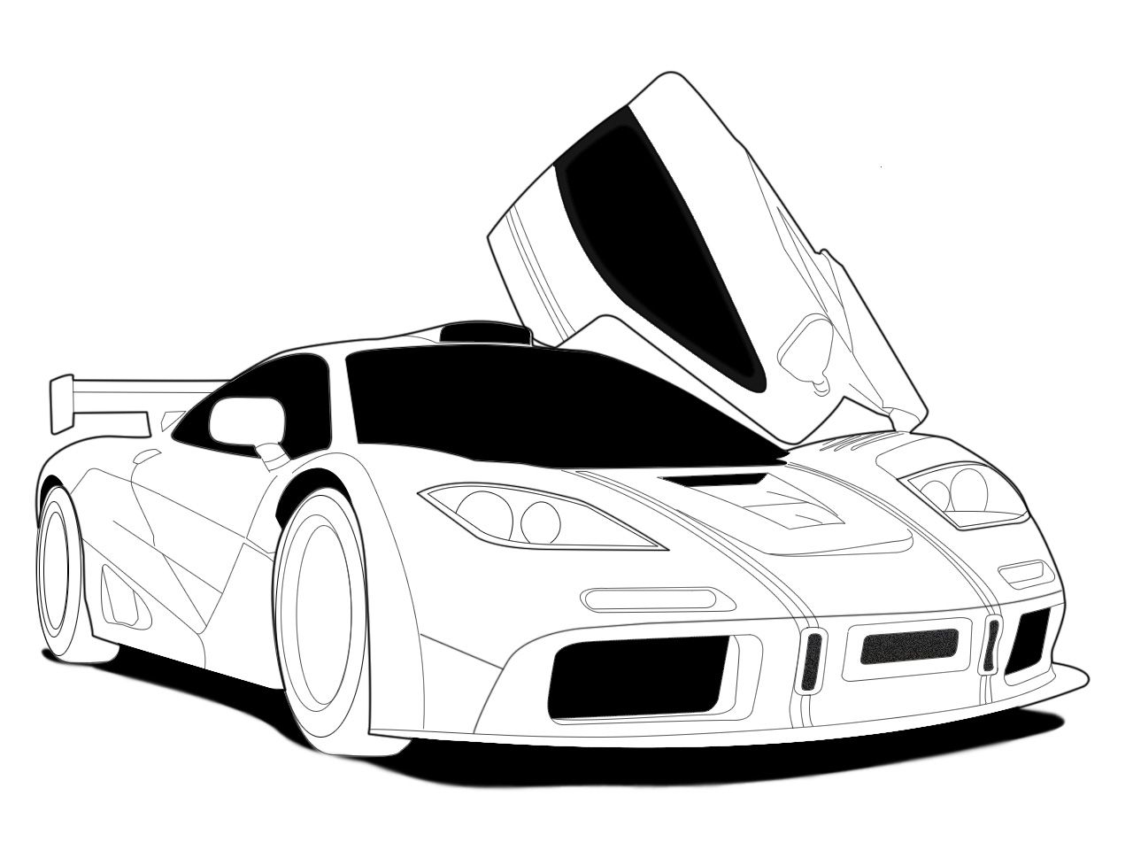 line drawings Race car coloring pages, Cars coloring