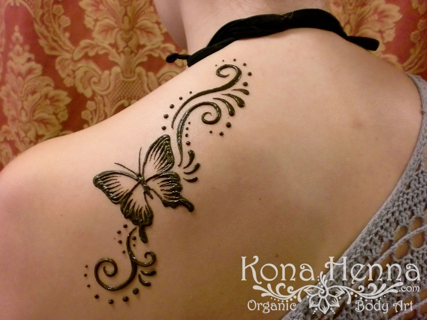 Kona Henna Studio Shoulders Gallery Henna Tattoo Designs