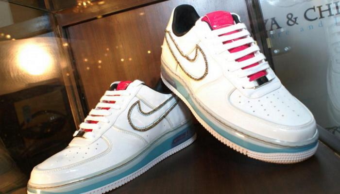 Elmas Islemeli Ayakkabi Nike Air Force1 Sneaker Bayan Ayakkabi Nike Air
