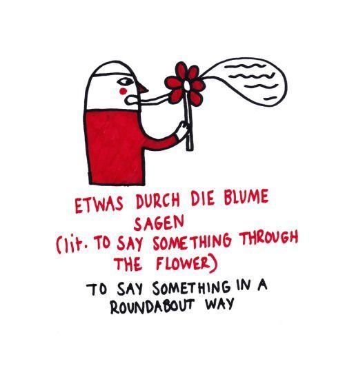Etwas durch die Blume sagen Redewendung Deutsch