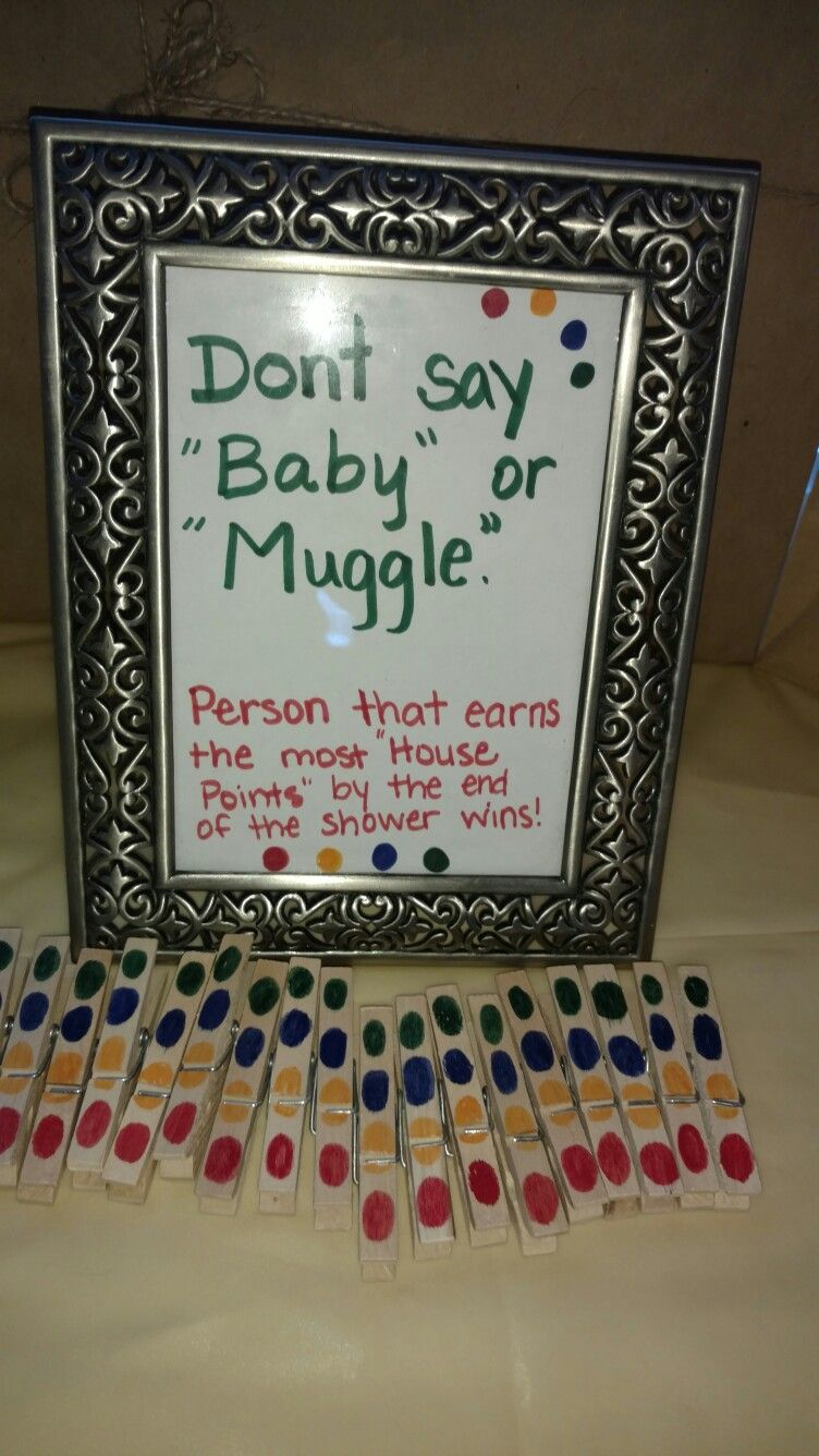 Donu0027t Say Baby Or Muggle. Person With The Most House Points Wins. Baby  Shower Game. Harry Potter Baby Shower