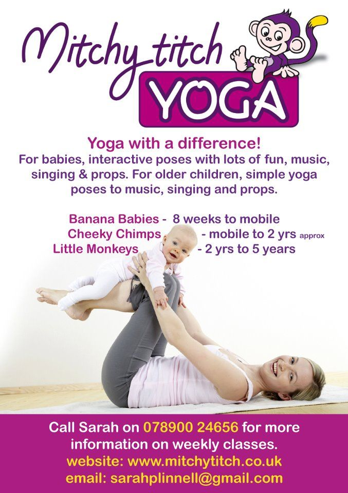 Baby and mother type businesses are really popular at the moment - yoga flyer