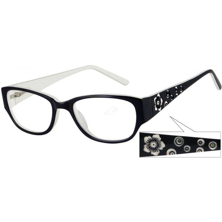 Black Fashion Acetate Full-Rim Frame with Spring Hinge #440821 ...