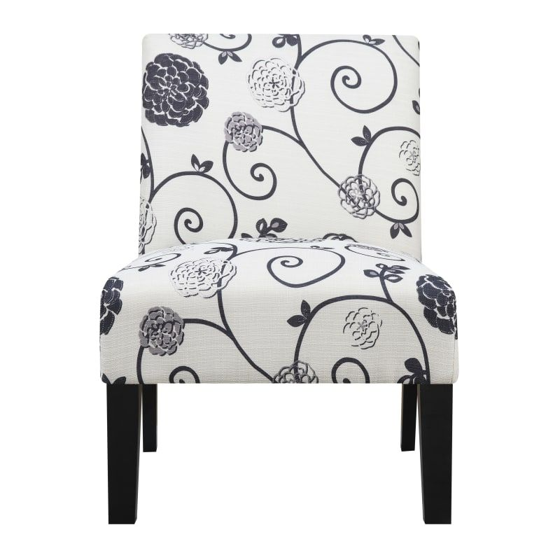 "Accent Chair With Swirl Bottom: Delacora HM-DS-2661-270 Swirl 26"" Wide Hardwood Framed"